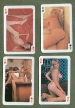 Pin-up vintage  playing cards. Crown pin-up deck  1970`s